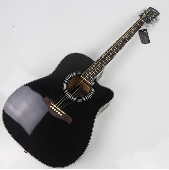 new guitars high quality wood color acoustic guitar rosewood fingerboard guitarra with guitar. Black Bedroom Furniture Sets. Home Design Ideas