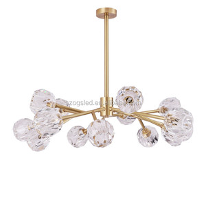 Large Modern Crystal Ball Chandelier Parts Hanging Lighting Fixture