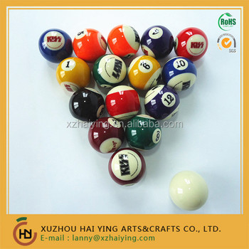 Pool Table Billiard Ball Set With Kiss Custom Logo