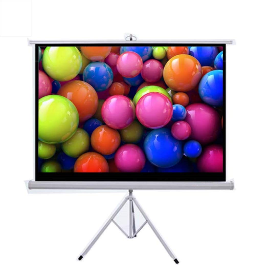 Yanyuwen 72 Inches Projector Screen Portable Movies Screen,4:3 Outdoor Portable Screen, High-End Table Screen Portable Outdoor Learning Entertainment Movie Micro Projector Screen