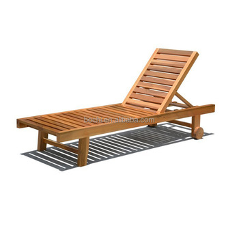 BOCHI Yacht Foldable Teak Deck Chair