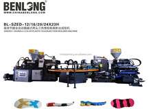 Hot sell PVC two head three color shoe making machine