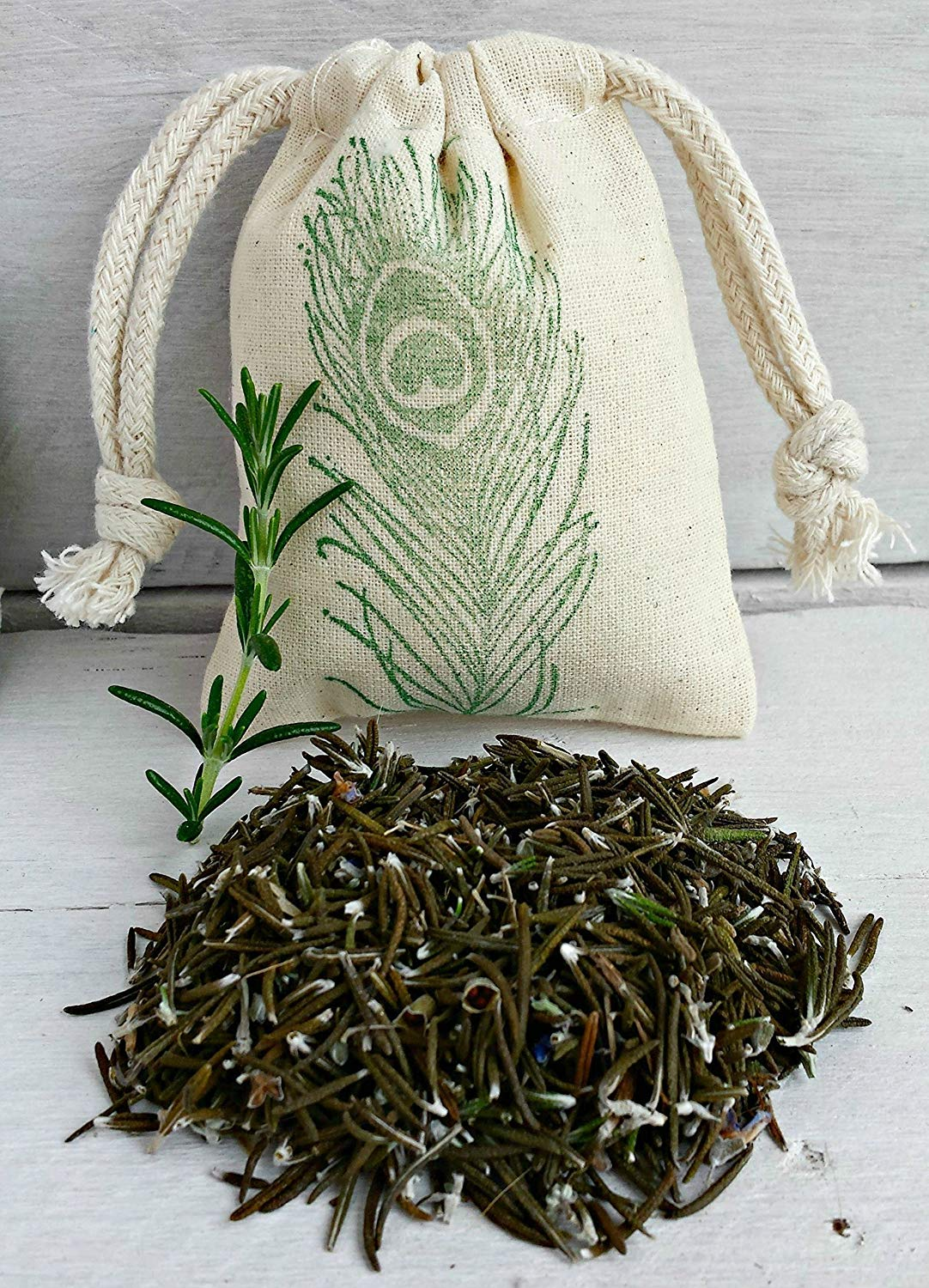 Rosemary Sachet Bags | Scented Sachets | Sachet Favors | Aromatherapy Wedding Favors | Scented Drawer Sachets | Dried Organic Rosemary