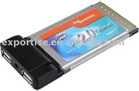 PCMCIA CardBus to USB 2.0 2-Port Host Controller Adapter