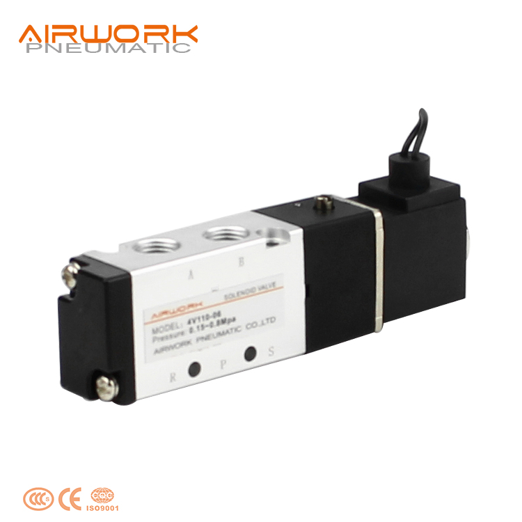 4v110-06 Airtac Solenoid Air Valve Wiring Diagram 4v210-08 With Coil on