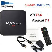 Mxg Pro 4 K Android 7.1 Pronto Amlogic S905W Nuovo Tv Box 1 gb 8 gb Emmc <span class=keywords><strong>Flash</strong></span> H.265 Hevc 10 Bit Hdr Mxg Pro 4 K Android Box