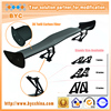 Dreamer Car Top Quality 3D Carbon Fiber Spoiler 145cm Tuning Spoiler with 7 Inches Aluminum Stands