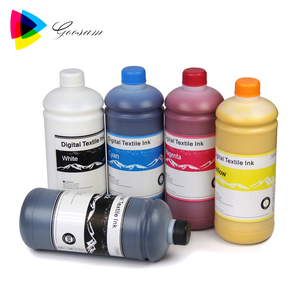 Hot sale CMYK+White T shirt printing Textile DTG Ink for Brother GT-361/381/541/782 garment printer
