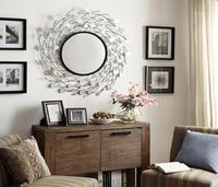 ZhaoHui new design decorative wall hanging mirror metal art decor wall mirror
