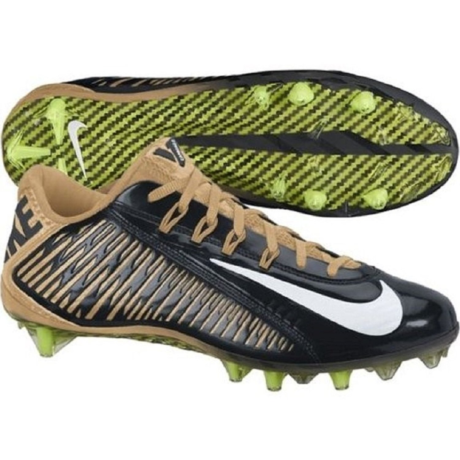 b95536849ab5 Nike Vapor Carbon 2.0 Elite Flywire TD PF Football Cleats Mens Gold Saints