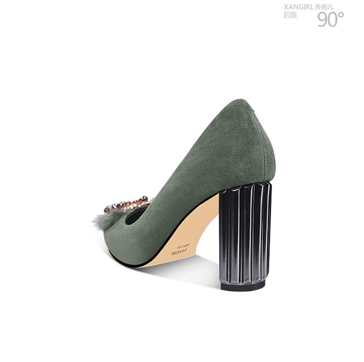 leather dress 2018 fur on slip cow Genuine shoe lady for YYxqfrw5
