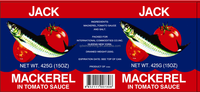 JACK BRAND CANNED MACKEREL IN TOMATO SAUCE IN 425G