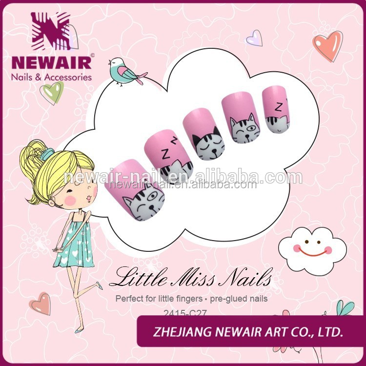 Lovely Kids Fake Nails Little Miss Kids False Nails - Buy Kids Fake ...