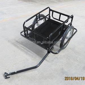 "16 ""pneumatic wheel load trailer bicycle trailer foldable frame"