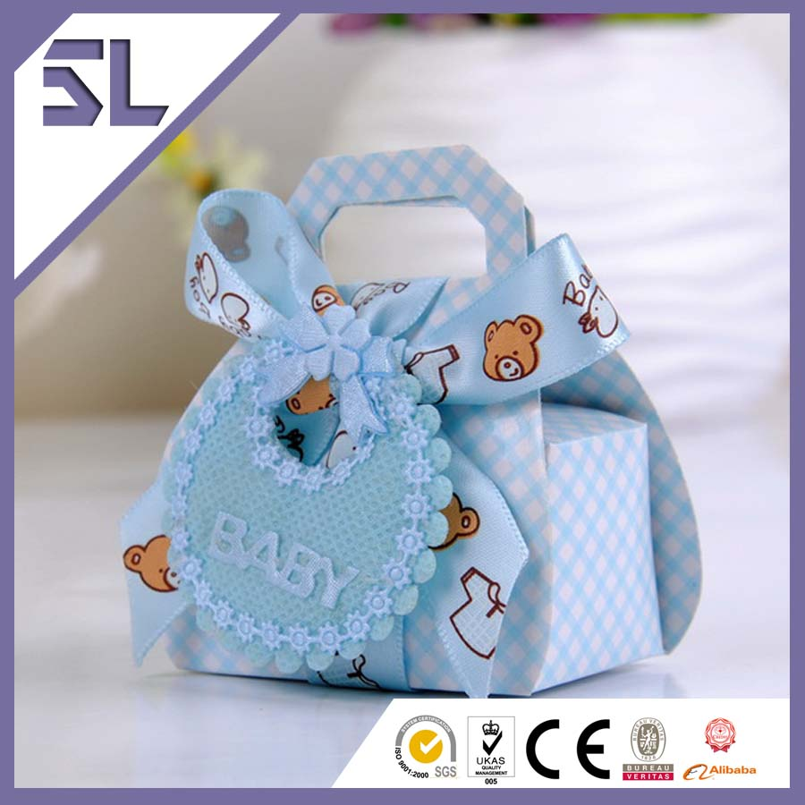 Lovely Bear Pattern Ribbon Decorated Baby Gift Boxes Sweet ...