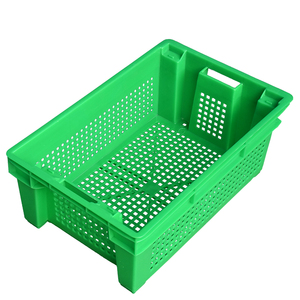 Food grade stacakble agriculture vented vegetable and fruit stacakble plastic crate