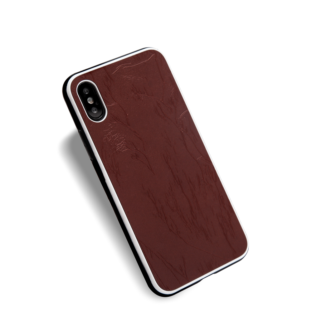 9fa8b085cb5 Slim árbol duradero textura pu caso caja universal del teléfono para iphone  x