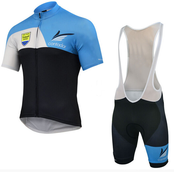 Cycling jerseys Saxo bank tinkoff black&blue 2015 Ropa Ciclismo&Bib shorts Cycling clothing /bike bicycle jersey