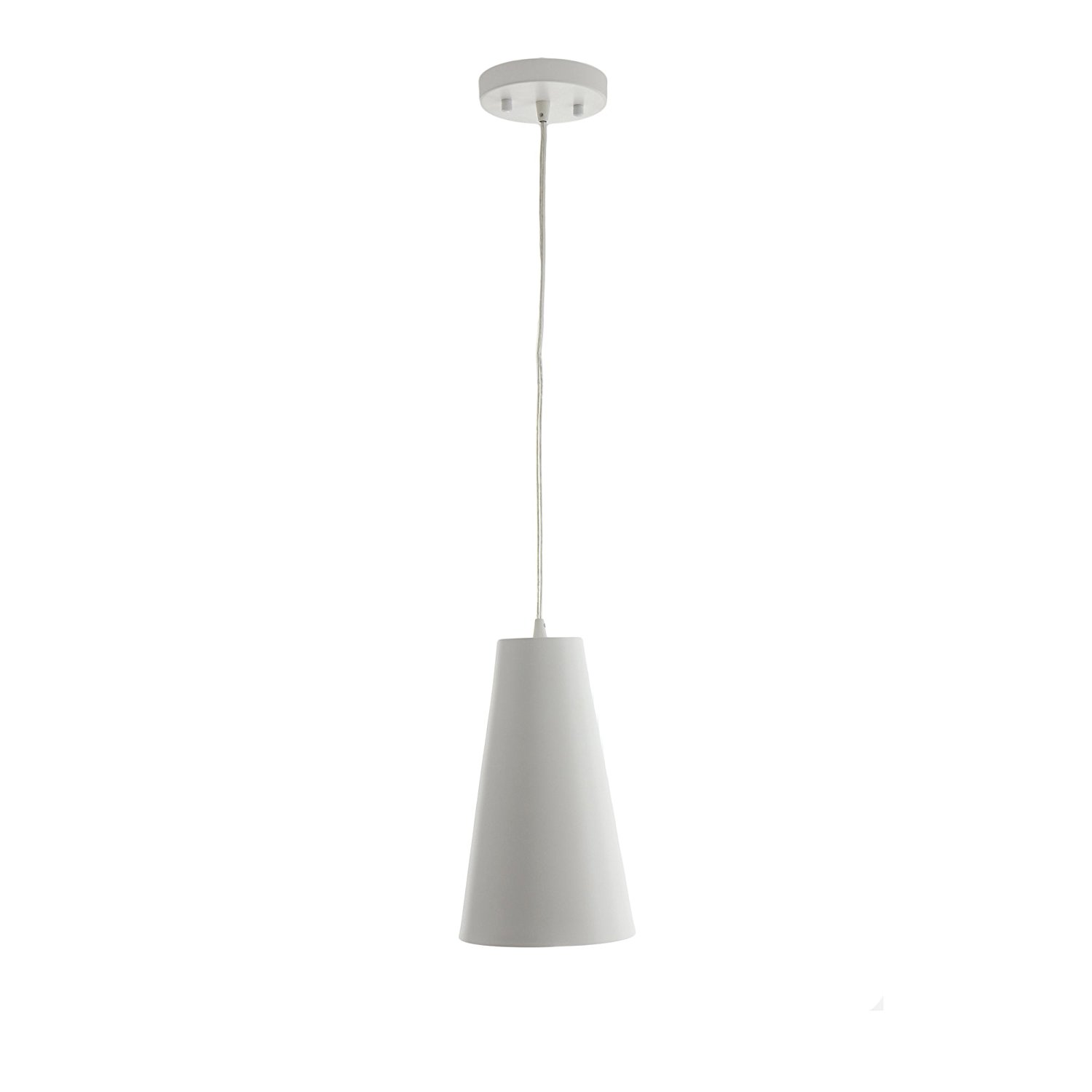 "VONN VMP21511WH Modern LED Pendant Lighting with Metal Shade with Adjustable Hanging Light, 11"" x 6"", White"