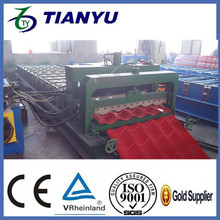 corrugated single roofing sheets making machine /roller making single roofing tiles