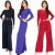 black jumpsuit Woman Long Pants Sleeve Wide Leg Jumpsuit Romper Playsuit Pant Suit