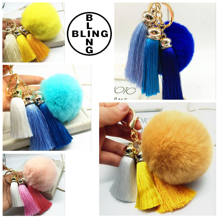 >>>Hot Sale Real Rex Rabbit Fur Keychain ,8cm Fur Key Chain With Leather Tassel ,Hot Sale Bag Charm/