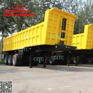 China yuantong factory 40 ton sand transport man diesel tipper truck price dump trailer