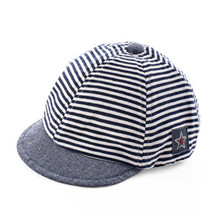 Spring summer new striped children cap canvas boys and girls fashion wear baby hat