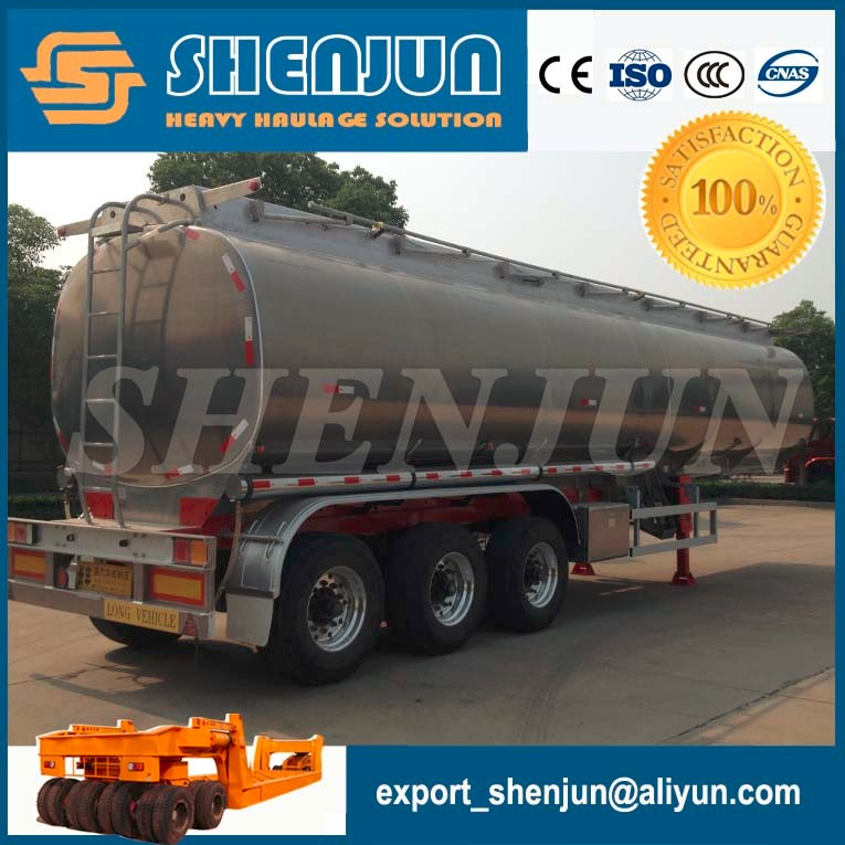 3 axles 45000 liters fuel tanker trailer for sale