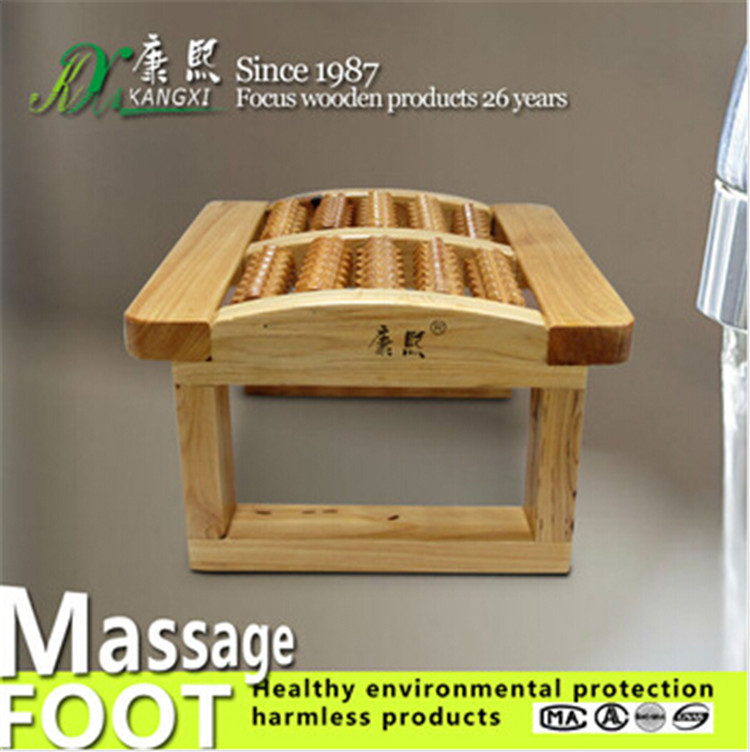 New Year Gift <strong>Health</strong> Care Wooden Bead Roller Nude Detox Reflexology Foot Massager Stool