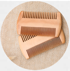 2018 New style WG002 Amazon Best Selling Wooden Beard Comb for Men with Fine & Coarse Teeth 9.5*5.5cm