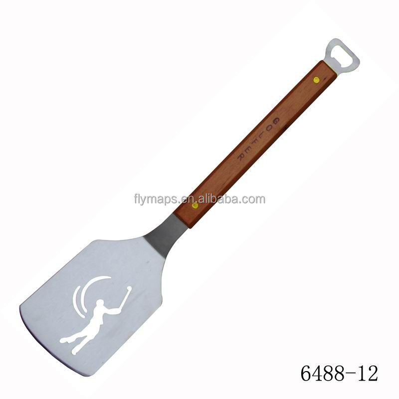 Barbecue spatula with pattern and opener BBQ