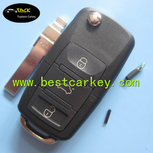 Topbest complete remote key for VW 3 buttons remote key 433Mhz ID48 chip 1J0 959 753 DA