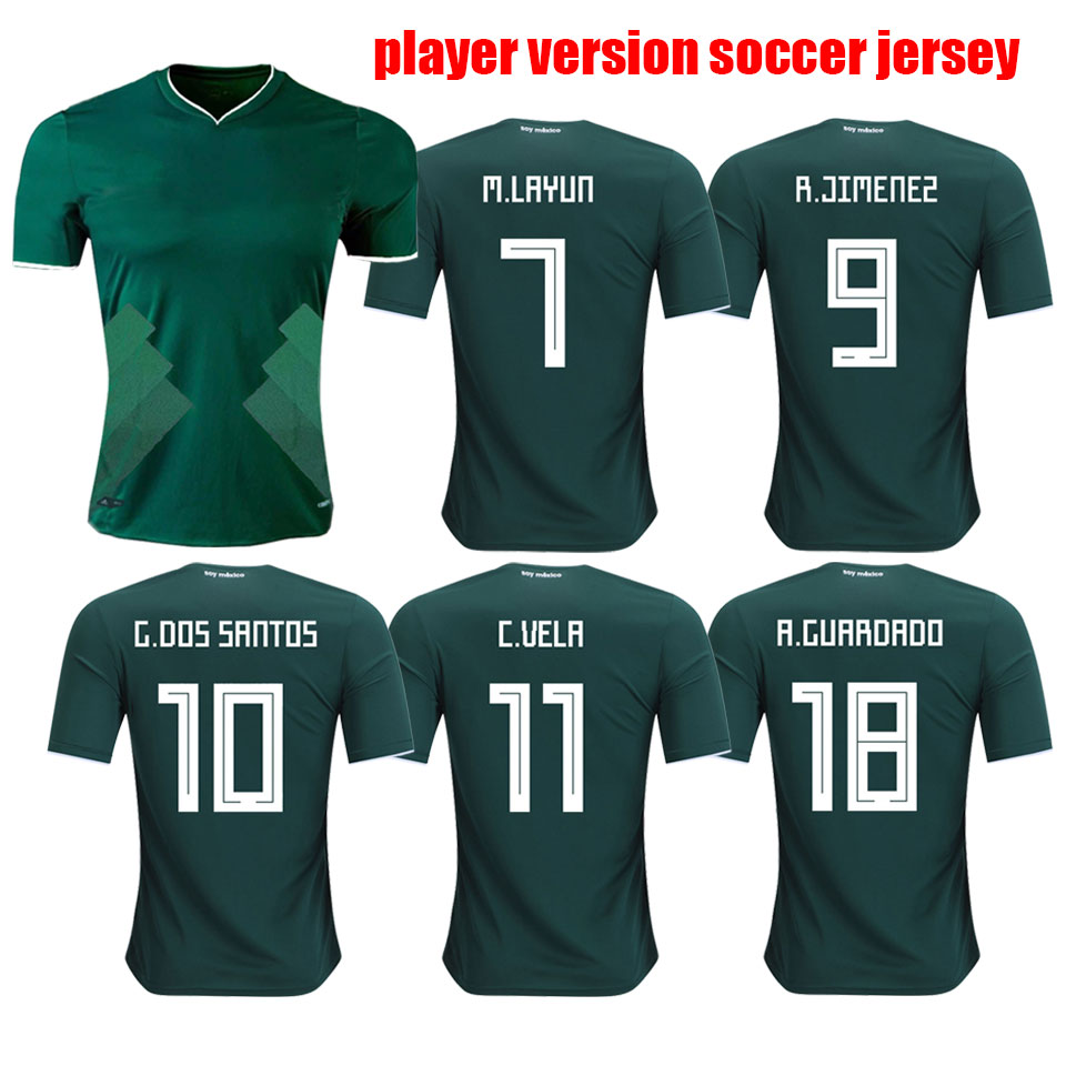 c04f44c16 Top Thailand Quality 2018 World Cup Mexico Player Version Home Soccer Jersey  - Buy Mexico Player Version Soccer Jersey