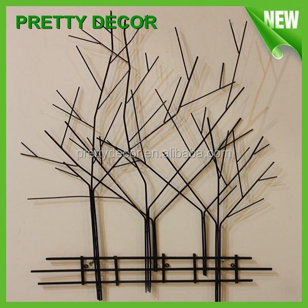 Mural fond d coration artisanat m tal arbre sculpture for Decoration murale arbre metal