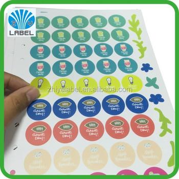Gold foil label kiss cut sticker sheet label a5 die cut sticker