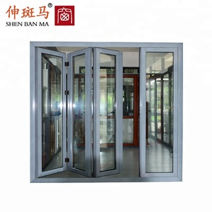 china supplier pvc folding door aluminium folding door grill