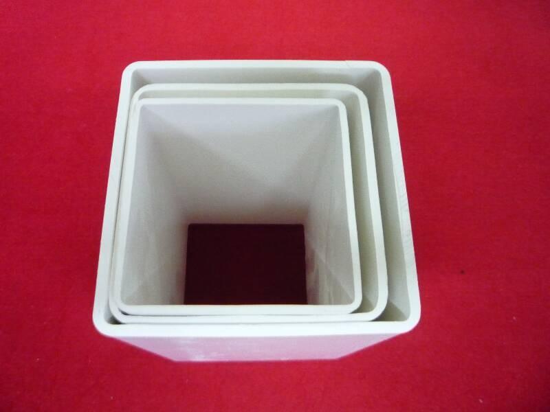 Blanco de pl stico r gido de pvc tubo cuadrado de 5x5 - Tubo plastico rigido ...