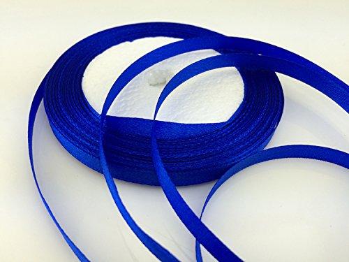 "Solid Color Satin Ribbon 1/4"",25yds (royal blue)"