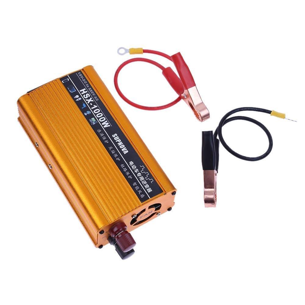 Vanpower 1000W DC 12V to AC 220V Sine Wave Car Power Inverter USB Charger