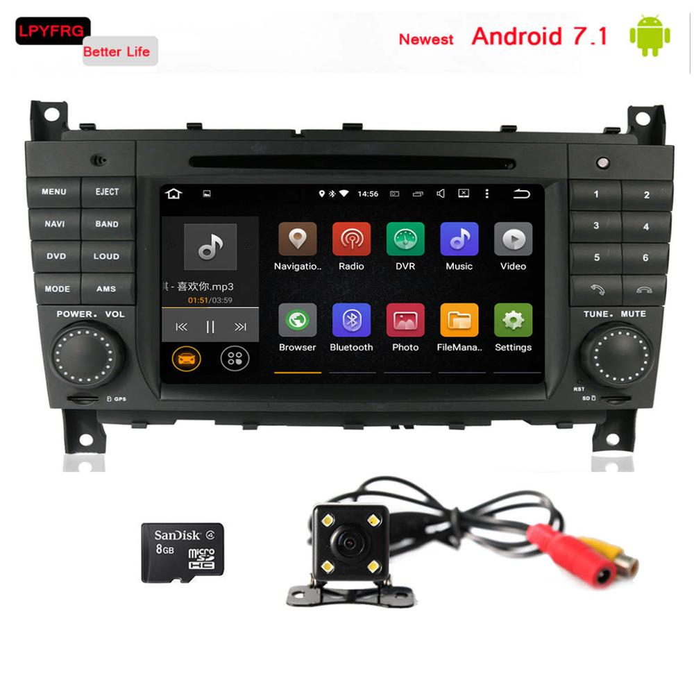 Android 7.1 car audio video player with gps navi system for Mercedes Benz C Class W203 c200 C230 CLK W209 TPMS DAB+ 2G RAM