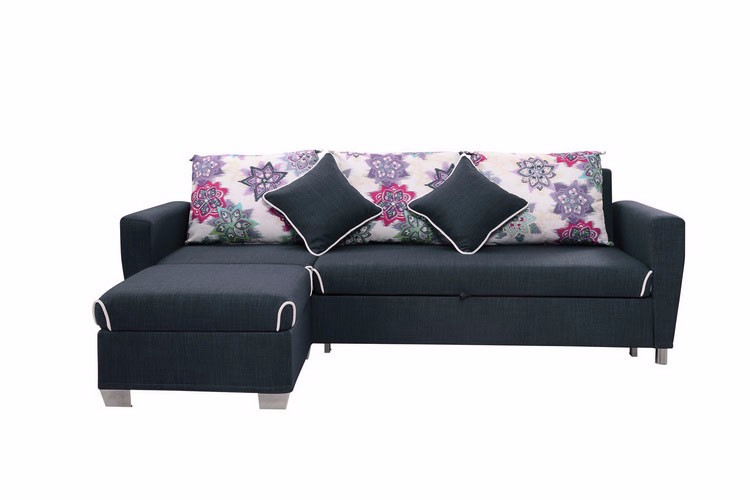 4 Seater Night And Day Convertible L Corner Sofa Bed With