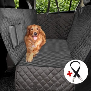 100% waterpoof heavy duty dog back seat cover for cars with nonslip bottom