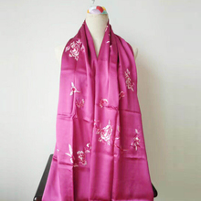 The latest silk hand-embroidered scarf for women.