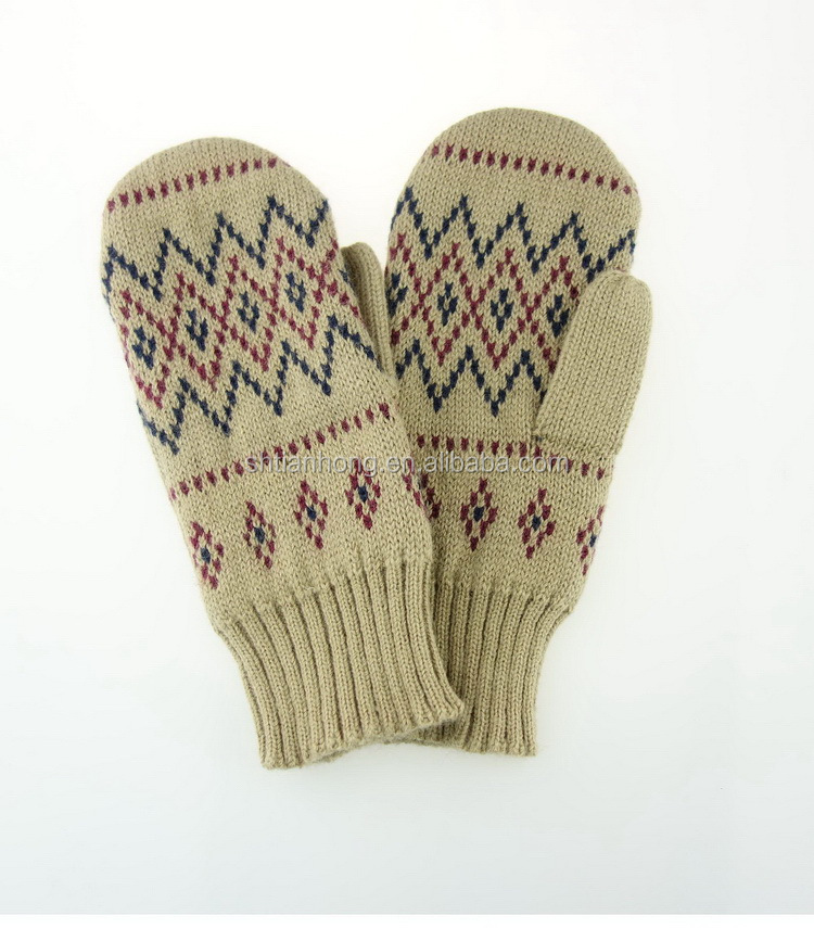 Various styles economic cashmere knit gloves and scarf set