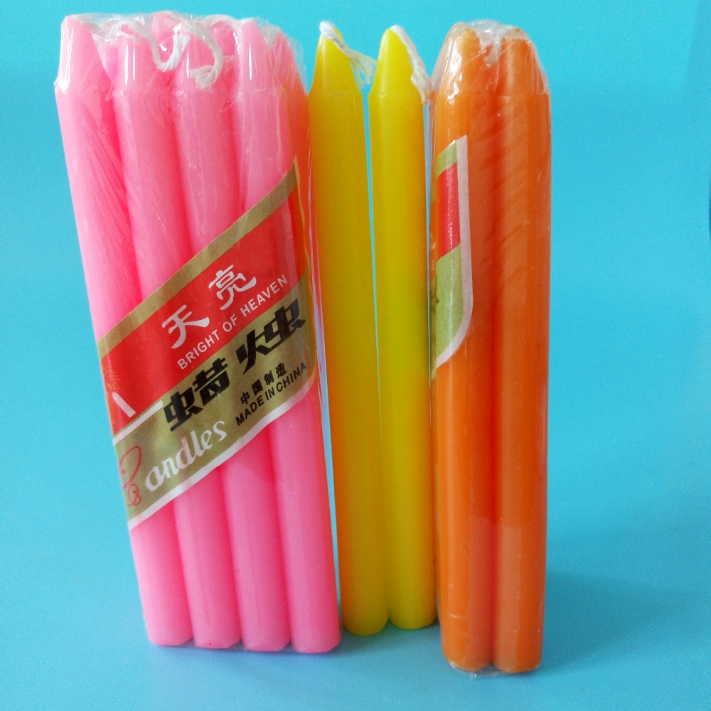 unscented colored wax candle lights in bulk
