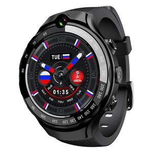 Nano SIM WiFi 4G LTE Fitness digital Watch 5MP Dual Camera GPS Waterproof sports Smart watch with heart rate monitoring for men