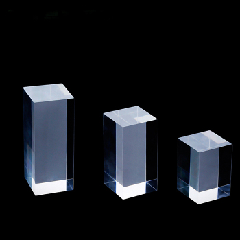 High transparency block cube clear solid acrylic block riser