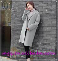Plus cotton warm Double-sided hand-sewn cashmere coat women for winter