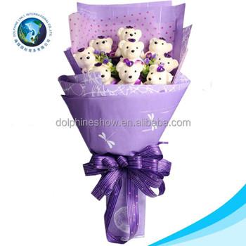 Indah Hadiah Hari Valentine Mainan Mewah Buket Bunga Kartun Kustom Ungu Lembut Mewah Boneka Beruang Bouquet Buy Beruang Bouquet Boneka Beruang Bouquet Mainan Mewah Buket Product On Alibaba Com